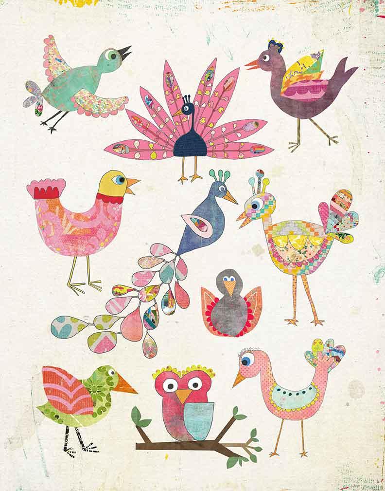 Ten Birds Art Print