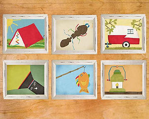 Hand-Drawn Camping Wall Art Boy Room