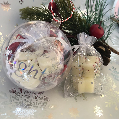 Personalised Wax Melt Christmas Baubles