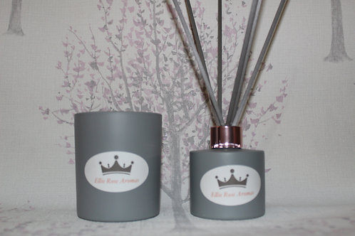 Candle and Diffuser set - Grey
