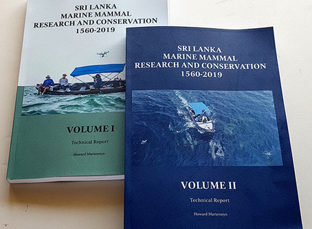 'Sri Lanka Marine Mammal Research and Conservation 1560 to 2019' Published