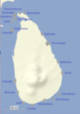 Sri Lanka Lighthouses map