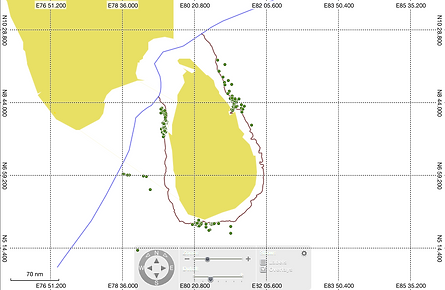 Sperm whale GPS records (POIs)