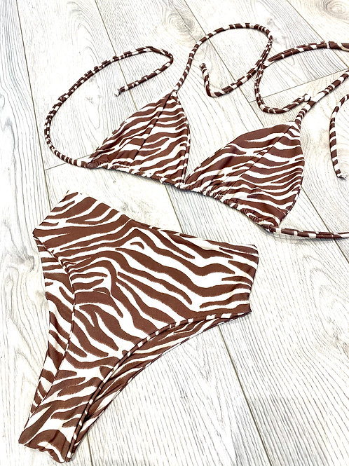 Triangle Zebra & High Waisted Bottoms