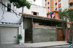 fachada em construção