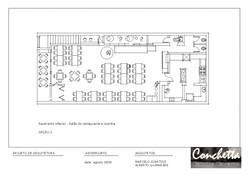 restaurante conchetta. estudo layout