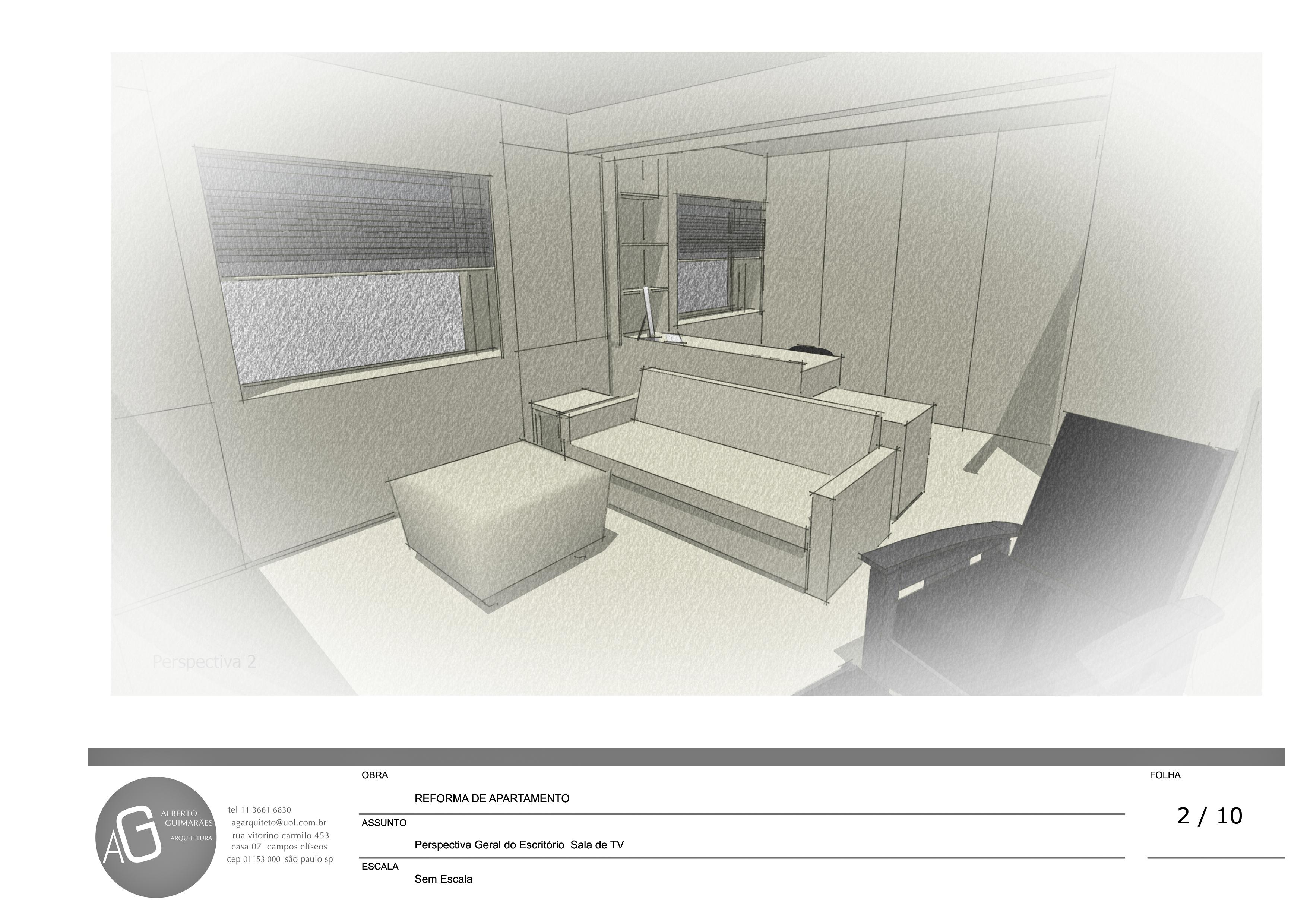 apartamento meire. escritório/salatv