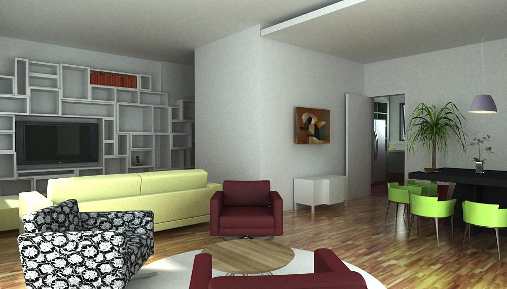apartamento fernanda. sala
