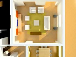 3D lay out living estudo inicial