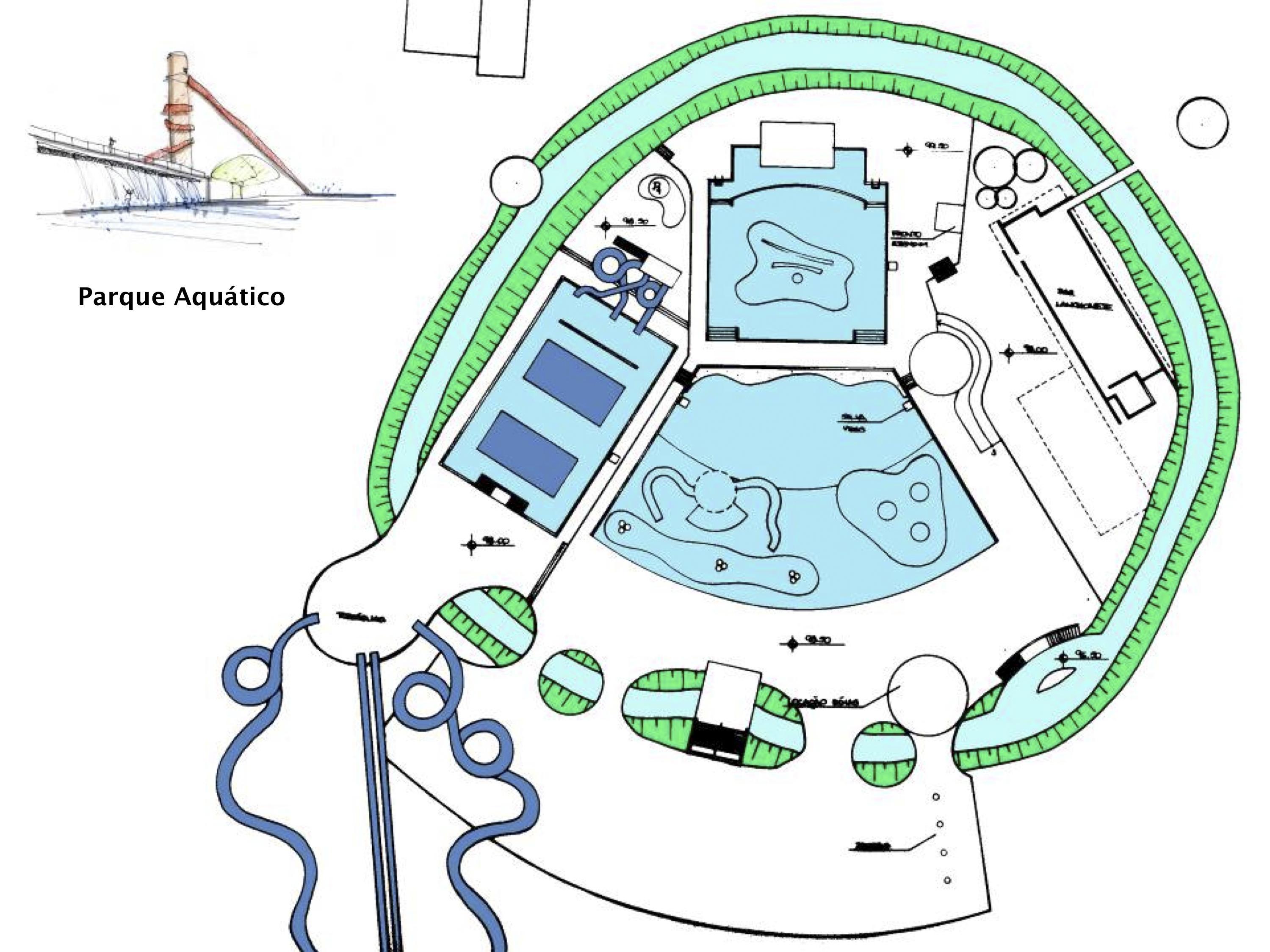 parque aquático. implantação