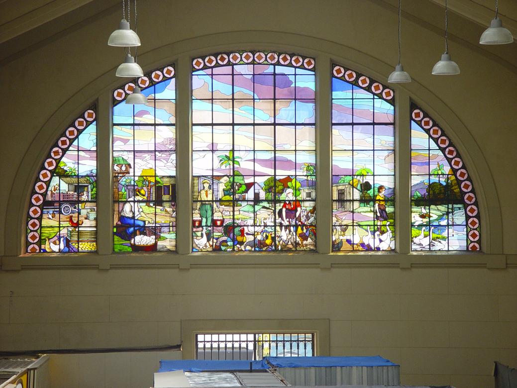 vista vitral. restauro