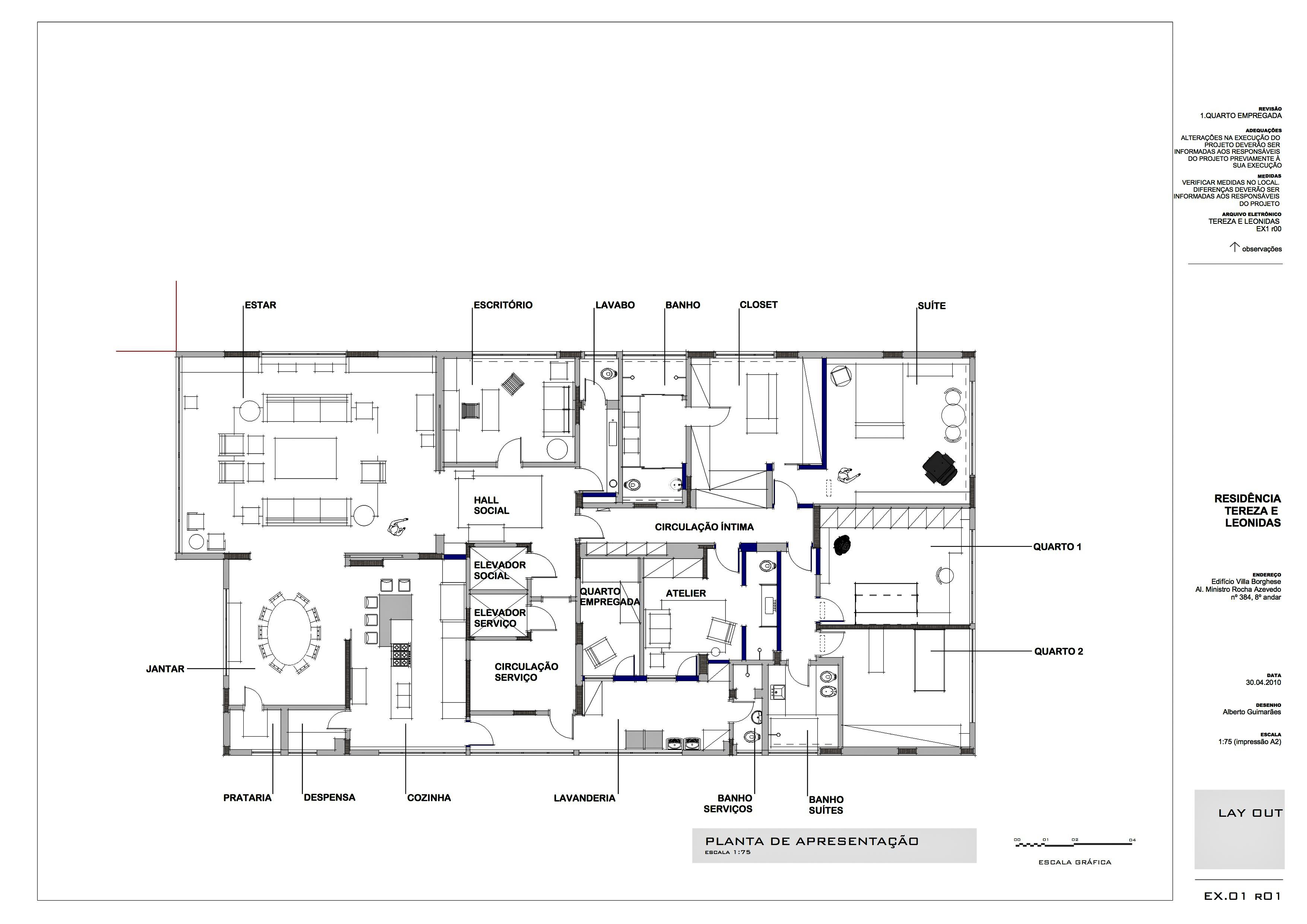 apartamento tereza. lay out