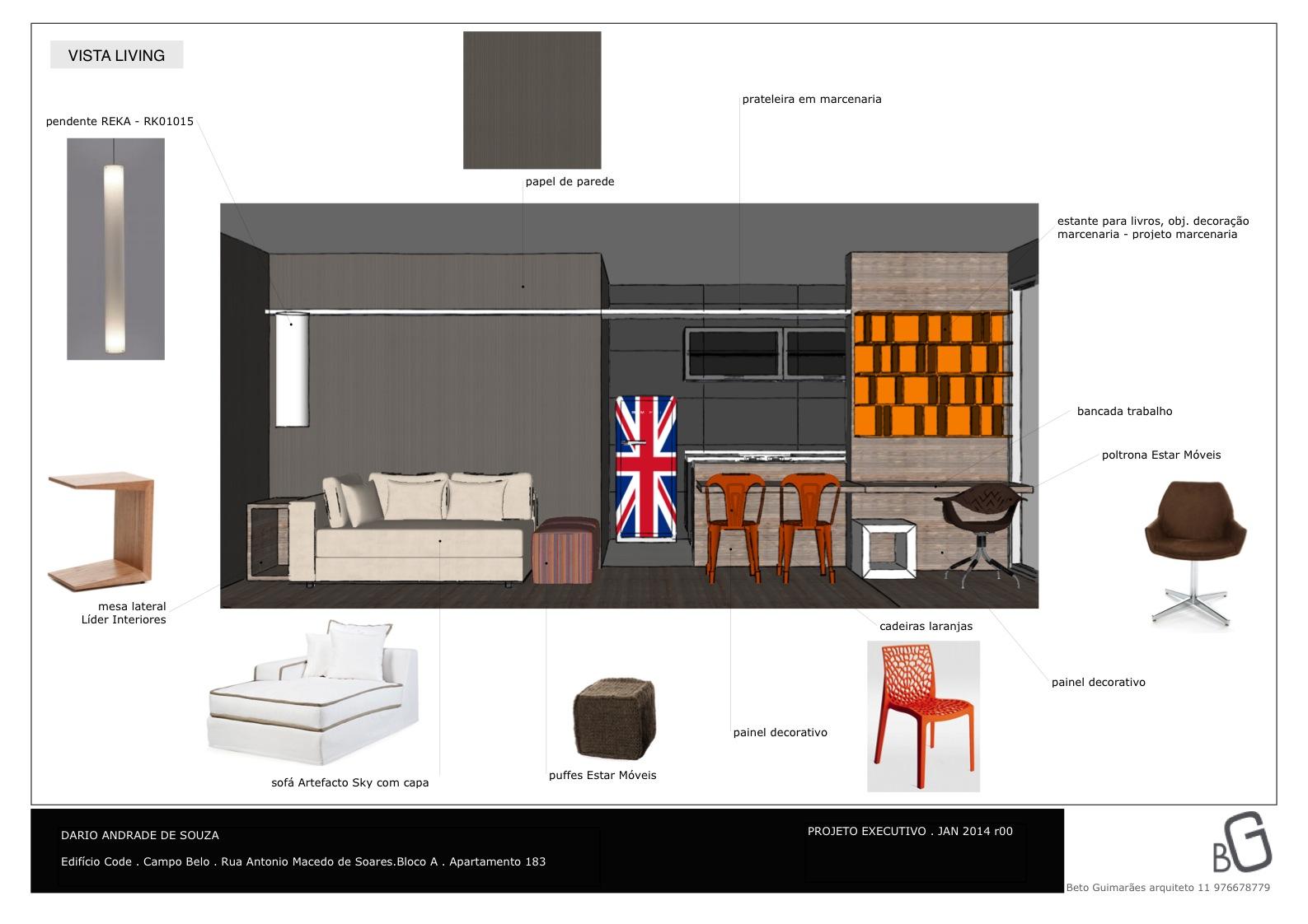 especificação mobiliário