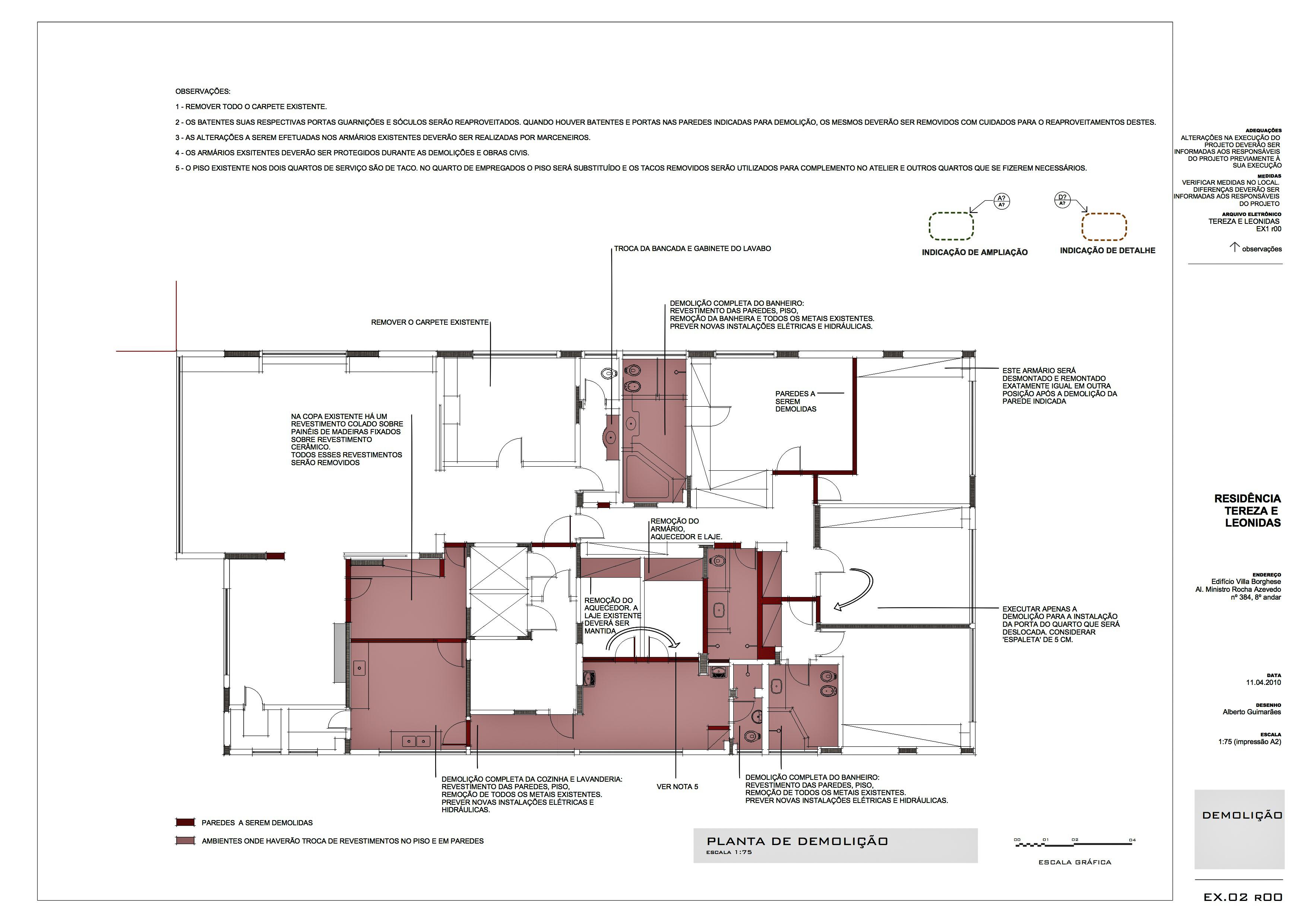 apartamento tereza. demolição