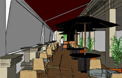 L'Absolu bar. área externa