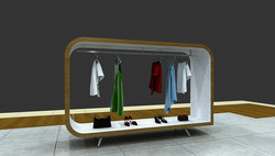 3D mobiliário expositor