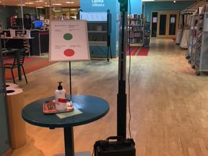 Nio bibliotek väljer trafikljus och räknar besökare i realtid