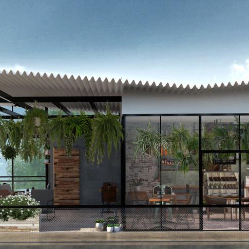 yoga cafe ออกแบบร้านกาแฟ