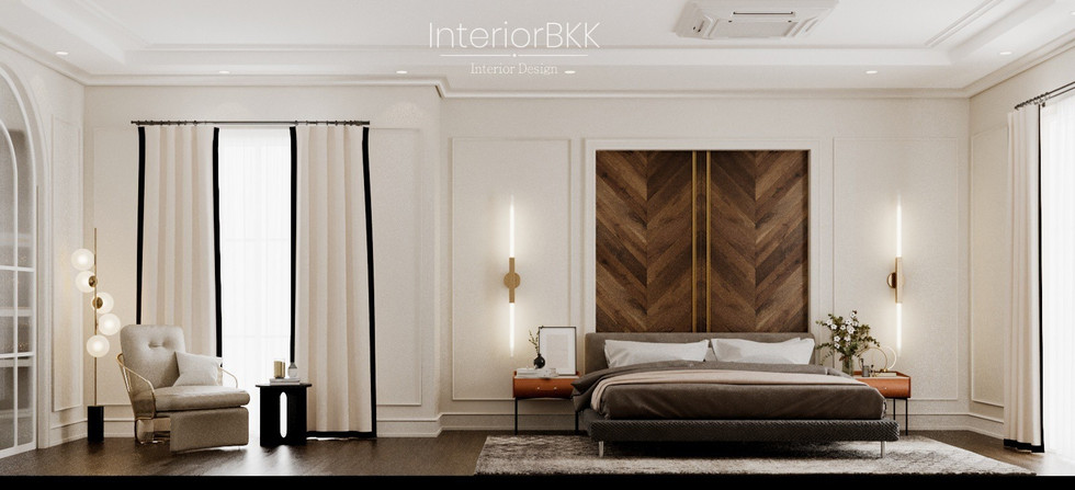 ออกแบบห้องนอน classic