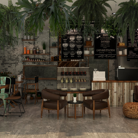 yoga cafe ออกแบบร้านกาแฟ 3