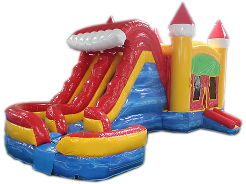 Red Yellow Blue Water Slide Combo