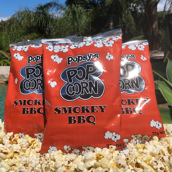 25gm Smokey BBQ Popcorn packet (box 24)