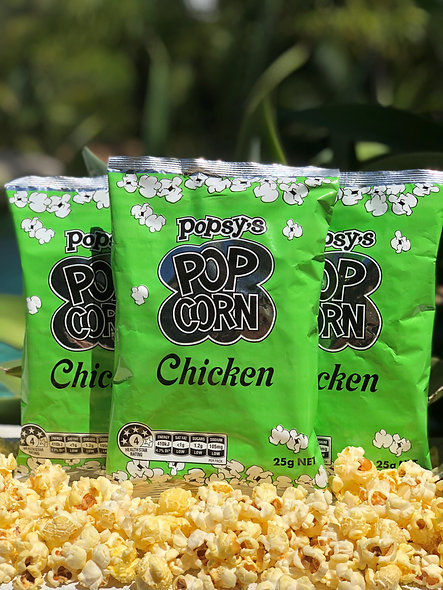 Box of 25 Mixed flavour Popcorn packet