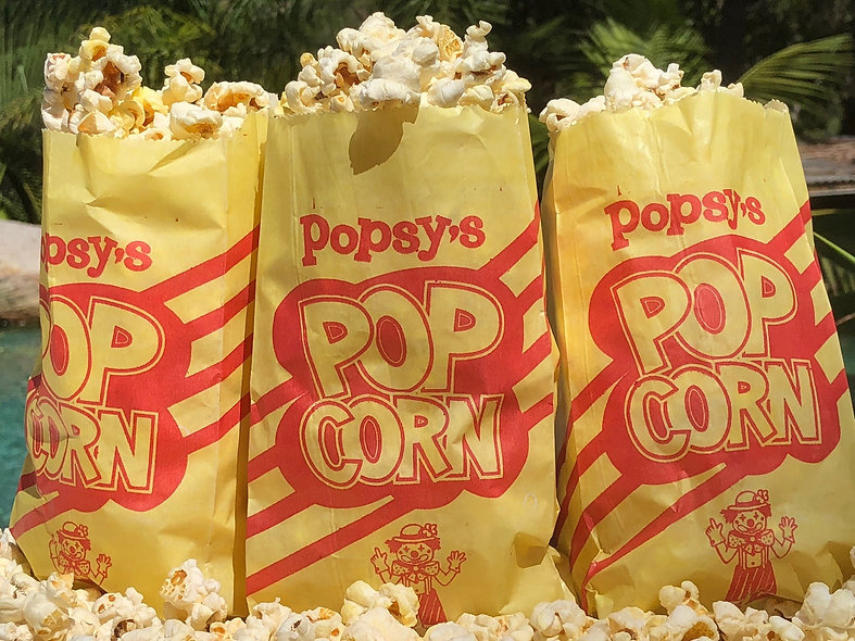 Pre-popped Popcorn Serving Bags per 100