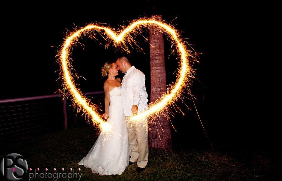 Bride & Groom Sparkler Heart