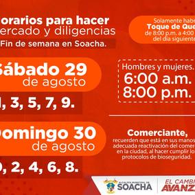 Soacha tendrá 'Toque de queda' nocturno el fin de semana