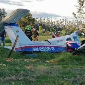 Se cayó una avioneta en el municipio de Ubaté.