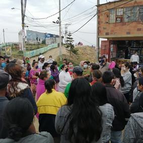Protestas en la comuna 4 por falta de alimentos