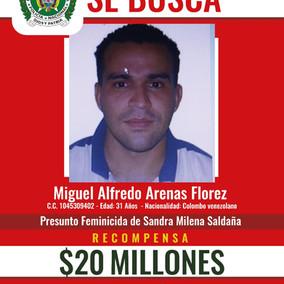 20 Millones de recompensa por el presunto asesino de mujer en el Rosal