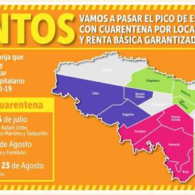 Este lunes empieza a regir la cuarentena por localidades