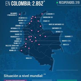 A 112 asciende la cifra de muertos por Coronavirus en Colombia