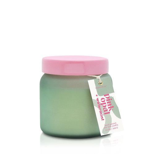PINK OPAL + WATERMINT Большая свеча в стекле с 2 фитилями PaddyWax