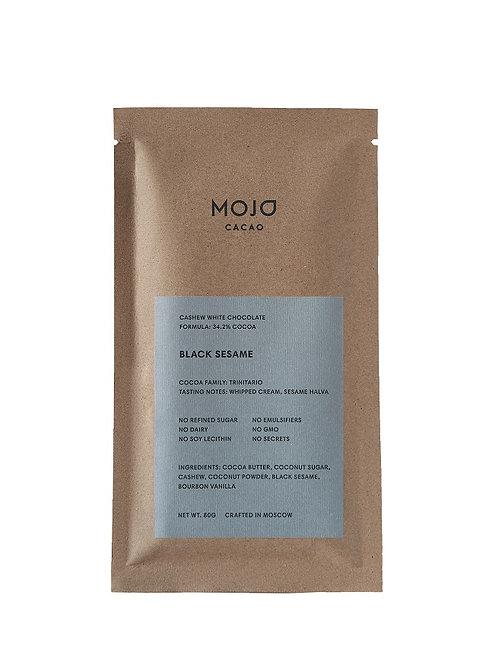 Black Sesame. Белый шоколад Mojo cacao с обжаренным черным кунжутом