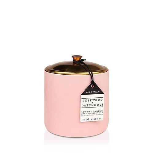 ROSEWOOD + PATCHOULI Большая свеча в керамической баночке