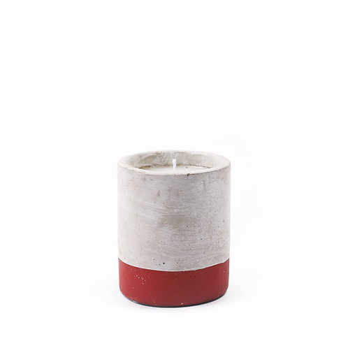 CRANBERRY ROSE, круглая свеча в бетоне