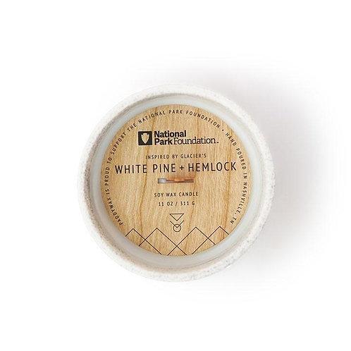 GLACIER'S WHITE PINE + HEMLOCK, свеча с деревянным фитилём