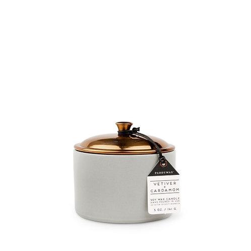 VETIVER + CARDAMOM, свеча в керамической банке