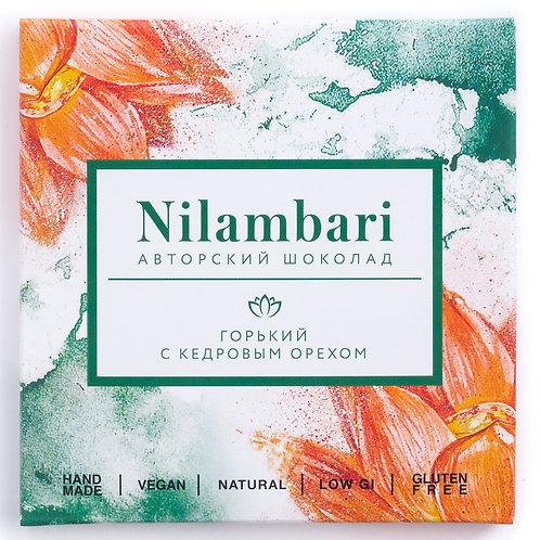 Шоколад Nilambari горький с кедровым орехом
