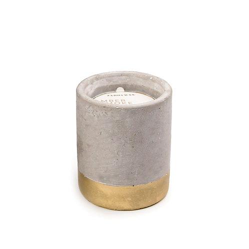 AMBER + SMOKE, круглая свеча в бетоне
