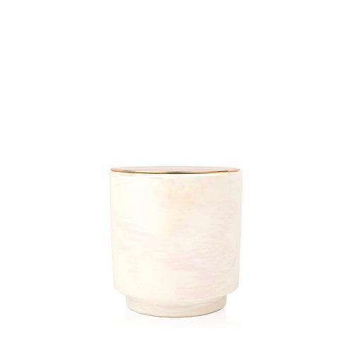 COTTON & TEAK Свеча в керамической баночке