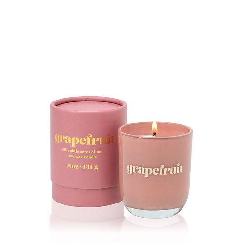 GRAPEFRUIT Средняя свеча в стекле и подарочной коробочке