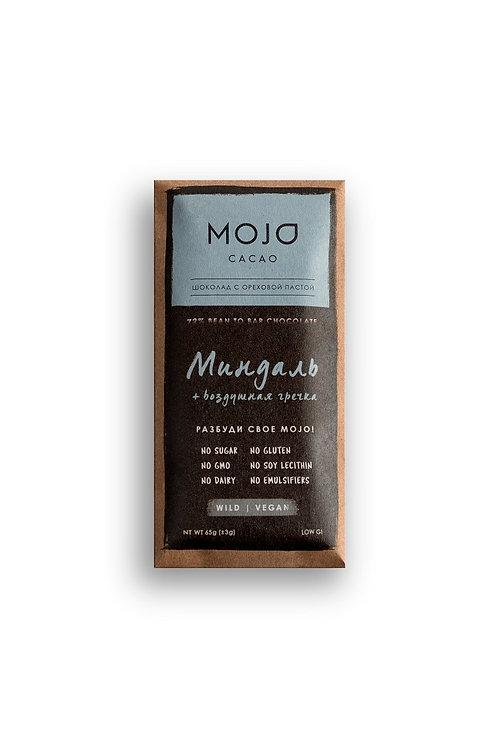 Миндаль. Горький шоколад Mojo cacao 72% (Гренада)