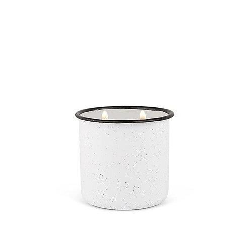 WHITE WOODS and MINT, большая свеча в металлической банке
