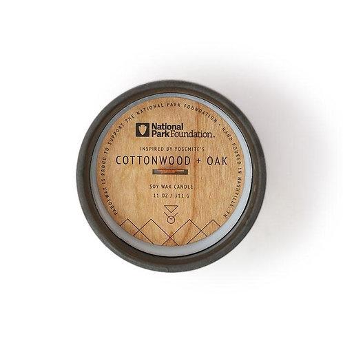YOSEMITE'S COTTONWOOD + OAK, свеча с деревянным фитилём