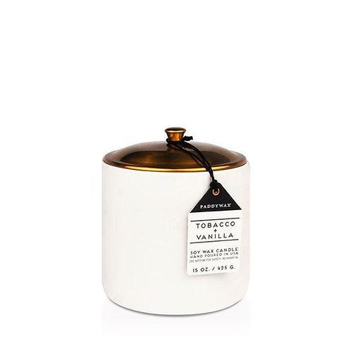 TOBACCO + VANILLA, большая свеча в керамической банке