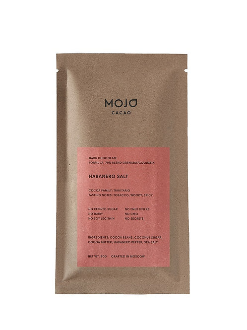 Habanero Salt.. Горький шоколад Mojo cacao 70% с перцем Habanero и морской солью